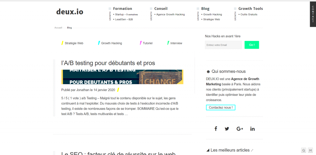 Blog Deux.io